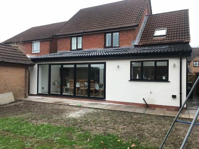 EXTENSION WITH BI FOLD                           DOORS